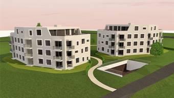 Baubeginn für die Mehrfamilienhäuser soll im Frühjahr 2016 sein. (Visualisierung)