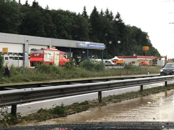 Die überschwemmte A1.