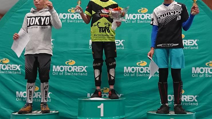 Aaron Wyss gewann zum ersten Mal seine Kategorie (Benjamins, U12)