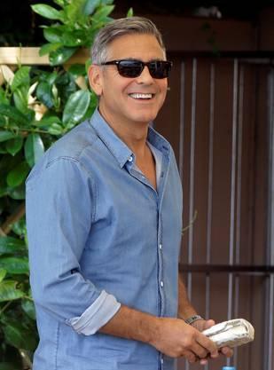 George Clooney am Morgen nach dem Polterabend