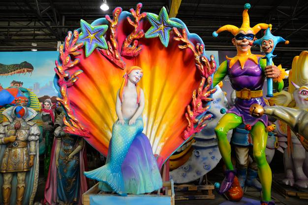 Leuchtende Skulpturen in New Orleans beim letzten Mardi Gras.