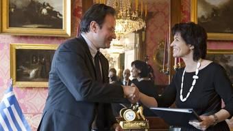 Doris Leuthard und ihr griechischer Amtskollege Georgios Papakonstantinou