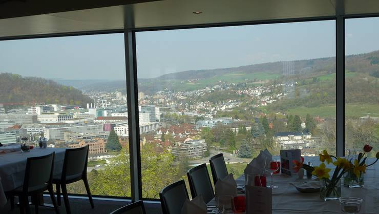 Die Gemeinde Ennetbaden liess zugunsten dieser Sicht Bäume fällen.