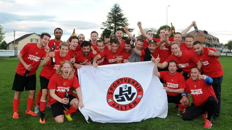Das Haltener Team feierte 2017 den Aufstieg in die 3. Liga. Heuer im Jubiläumsjahr sind sie wieder abgestiegen.