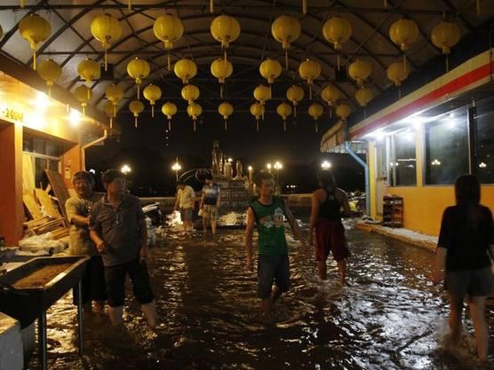 Ueberschwemmtes China-Town in Bangkok