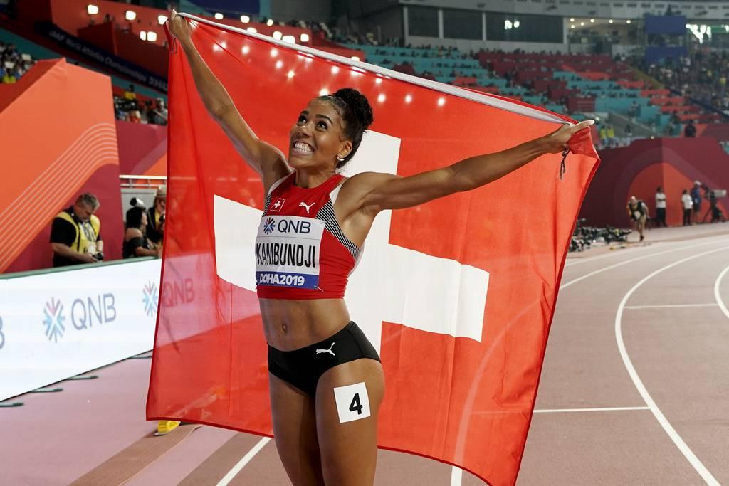 Mujinga Kambundji holt WM-Bronze (© Keystone/David J. Phillip)
