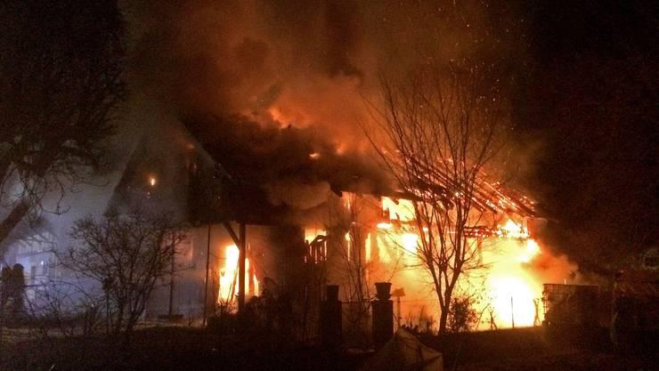 Die Scheuen wurde bei Brand komplett zerstört.