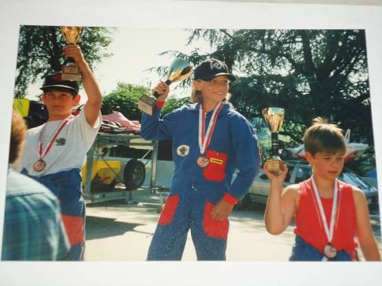 Ronny Lnenicka wird mit 9 Jahren Schweizermeister im Seifenkistenrennen.
