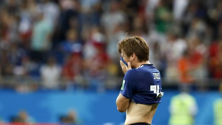 Takashi Inui ist wie alle Japaner enttäuscht über das Ausscheiden.