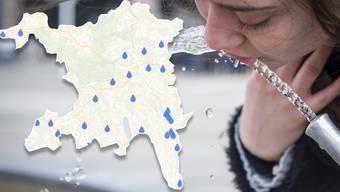 Grundwasserkarte Aargau.