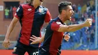 Blerim Dzemaili jubelt nach seinem Tor gegen Milan