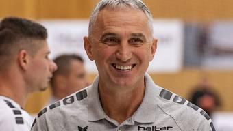 Goran Perkovac, Trainer bei Kriens-Luzern, hat derzeit gut lachen