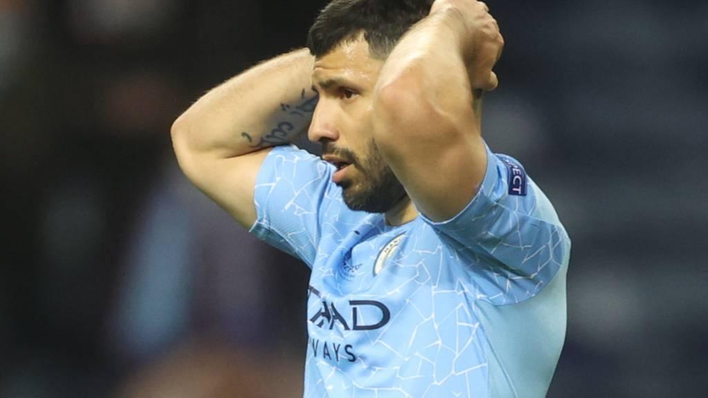 Verlässt Manchester City ohne den ersehnten Champions-League-Titel: Sergio Agüero im verlorenen Final vor zwei Tagen gegen Chelsea