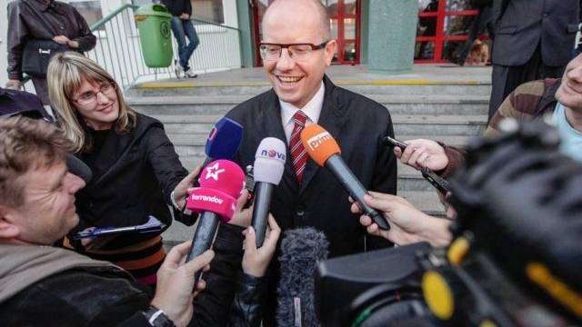 Gibt sich siegessicher: CSSD-Parteichef Bohuslav Sobotka