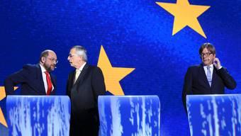 TV-Debatte im Brüsseler EU-Parlament.
