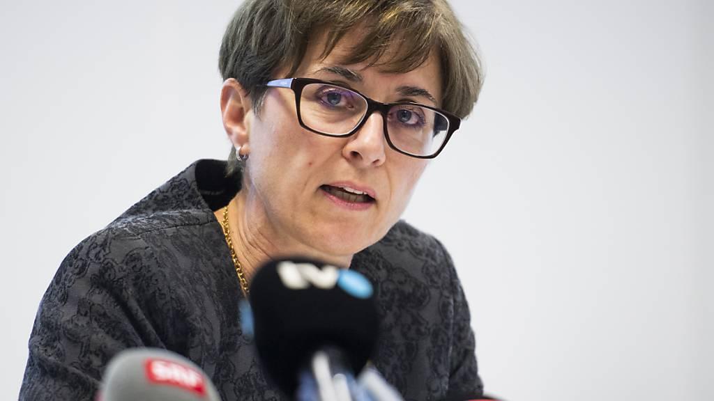 Regierungspräsidentin Monika Knill appellierte im Grossen Rat an die Bevölkerung, die Meinungsfreiheit anders denkender Personen zu respektieren. (Archivbild)