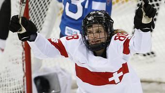 Die Schweizerin Phoebe Stanz will auch gegen Russland jubeln