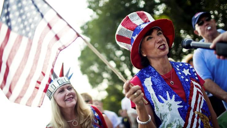 Unterstützer der konservativen Tea-Party demonstrieren am 28. August in Washington.  Drew Angerer/NYT/Laif