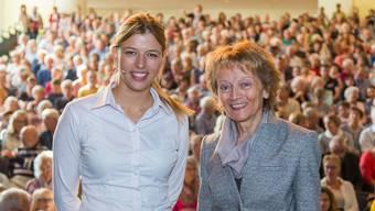 Jungpolitikerin Karin Bärtschi (27) und Pro-Senectute-Präsidentin Eveline Widmer (61) reden übers Altwerden. Fabio Baranzini
