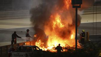 Unglaublich: Romain Grosjean stieg fast unverletzt aus diesem Feuer