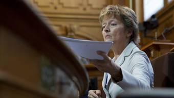 Finanzministerin Eveline Widmer-Schlumpf im Nationalratssaal