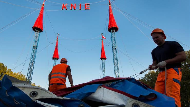 Grosser Zirkus: Anfang Juni kommt der Circus Knie nach Klingnau. Während dreier Tage gastiert er auf der Zirkuswiese. Keystone