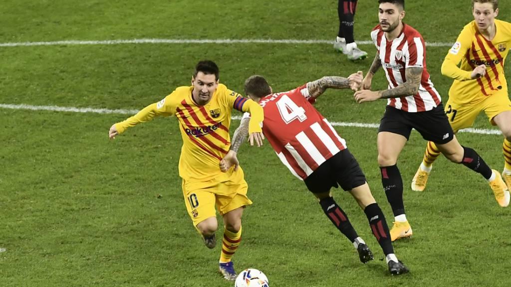 Lionel Messi war von der Verteidigung von Athletic Bilbao nicht zu stoppen