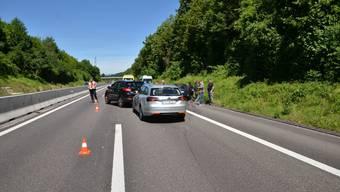Unfall auf der A18 bei Münchenstein