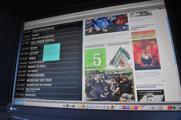 Die neue Website im Oktober 2009