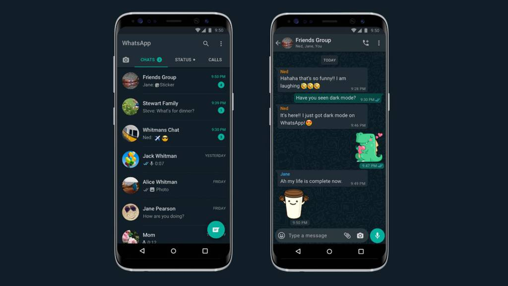 Digital: whatsapp darkmode