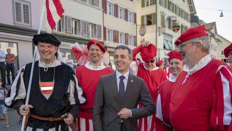 Der Kanton Luzern gedenkt der Schlacht bei Sempach von 1386. Bundesrat Ignazio Cassis kommt zu Besuch.