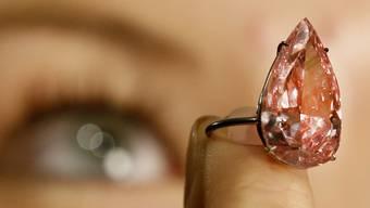 """Der Diamant """"Unique Pink"""" ging am Dienstag bei einer Versteigerung in Genf für 30,8 Millionen Franken an einen asiatischen Sammler. (Archivbild)"""