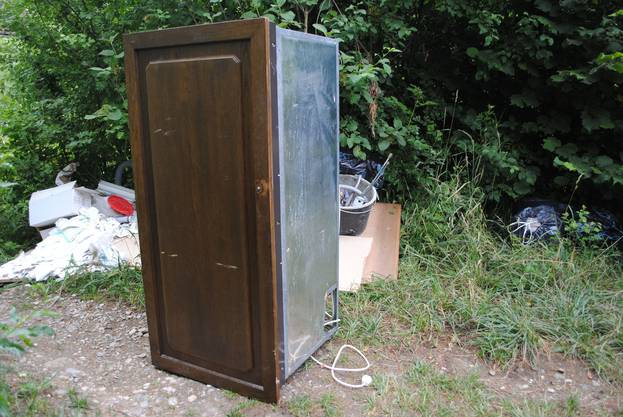 Auch ein Kühlschrank wurde hinterlassen