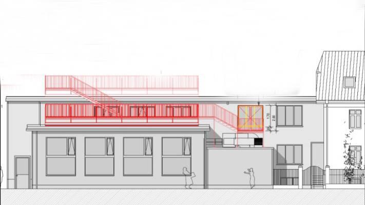 Die Nutzung der Dachterrasse als Aussenwirtschaft auf dem Südteil des Gebäudekomplexes ist vorerst bewilligt.