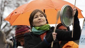 Regula Rytz nahm am 8. Dezember in Bern am Klima-Marsch teil. (Archivbild)