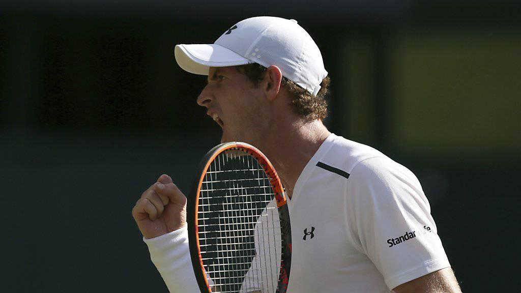 Andy Murray liess dem Deutsch-Jamaikaner Dustin Brown keine Chance und zog ohne Mühe in die 3. Runde ein