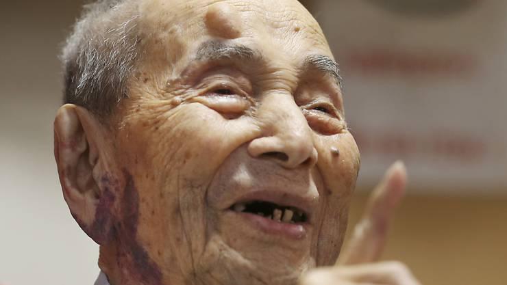 Der Japaner Yasutaro Koide wurde im Jahr 2015 mit 112-Jahren als ältester Mann der Welt ins Guiness Buch der Rekorde aufgenommen. (Archiv)