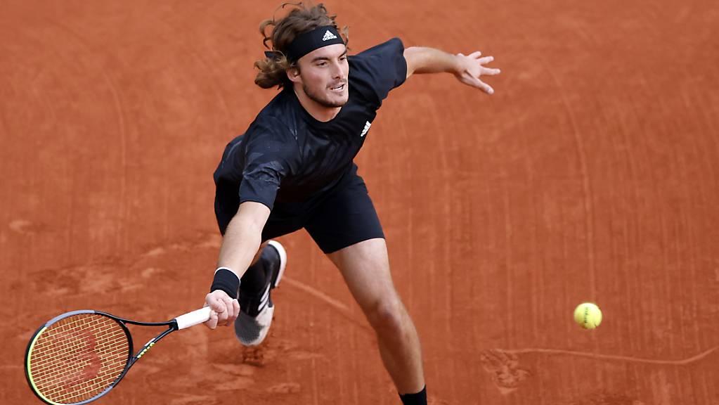 Mit starkem Auftritt erstmals in den Roland-Garros-Viertelfinal: Stefanos Tsitsipas in Paris.