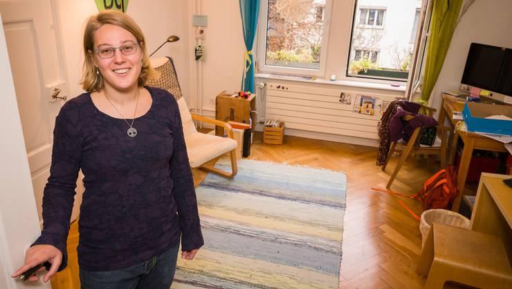 Noch ist Irene Walthers Wohnzimmer leer. Das wird sich demnächst ändern.