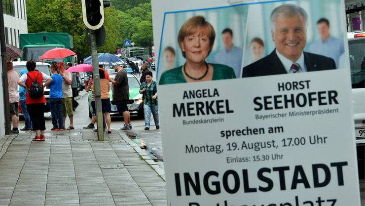 Angela Merkel und Horst Seehofer wären aufgetreten.