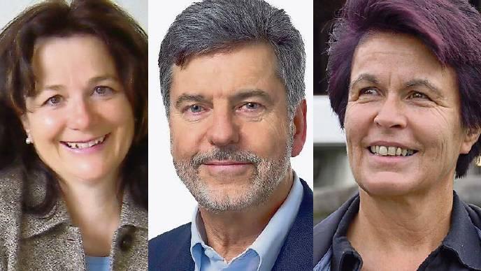 Kandidaten in Obersiggenthal: Therese Schneider (CVP), Dieter Martin (FDP) und Marie-Louise Nussbaumer (SP)