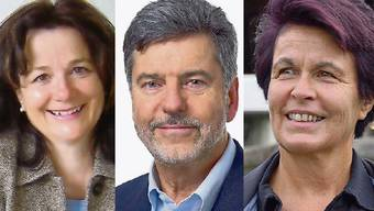 Gemeindeammann-Kandidaten in Obersiggenthal: Therese Schneider (CVP), Dieter Martin (FDP) und Marie-Louise Nussbaumer (SP)