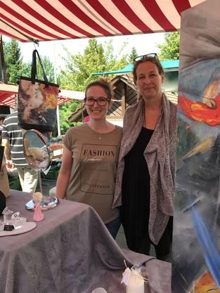 """Kunstmeile Aesch 2018 - Sara Haslacher und Stefanie Seiler:""""Kunst soll auch dort zu erleben sein, wo man wohnt"""""""