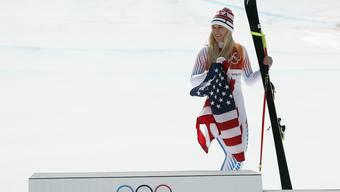 Trägt die US-Flagge immer noch mit Stolz: Lindsey Vonn.
