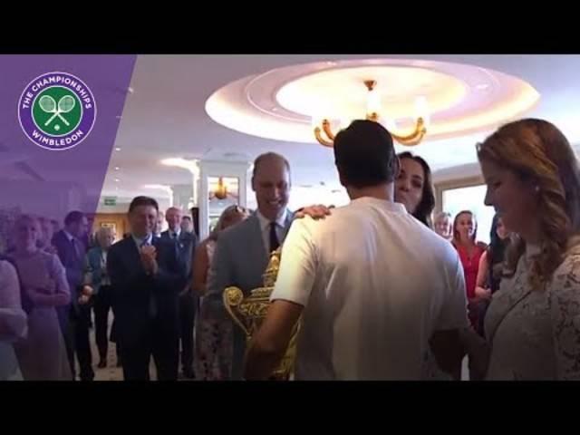 Familie, Freunde, Royals: Roger Federer wird in Wimbledon gefeiert