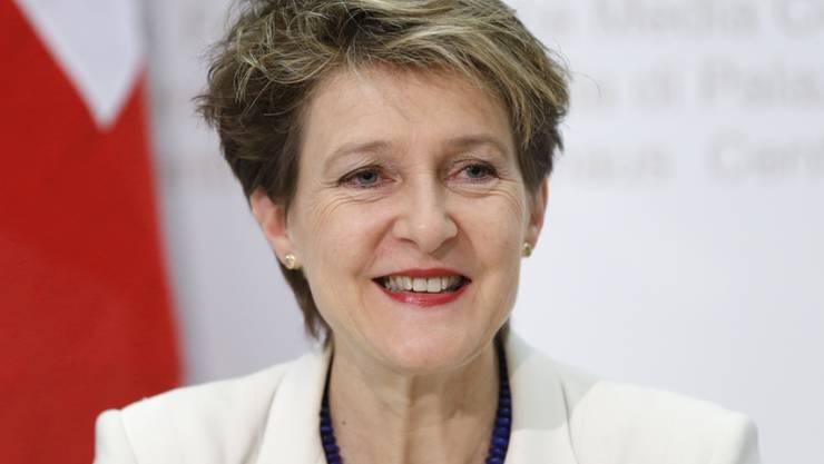Sie schlägt sie alle: Bundesrätin Simonetta Sommaruga ist laut einer repräsentativen Umfrage die wichtigste Schweizerin (Archiv).