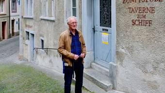 Hannes Burger öffnet die Tür zum Museum wieder.
