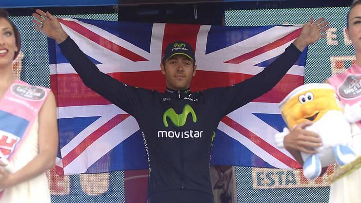 Der Brite Alex Dowsett bejubelt im Mai 2013 seinen ersten Tageserfolg beim Giro d'Italia