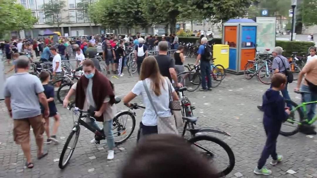 Viele kamen an die Velobörse 2020 in Brugg