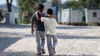 Auf der griechischen Insel Lesbos leben Flüchtlinge mit Bezug zur Schweiz. (Symbolbild)